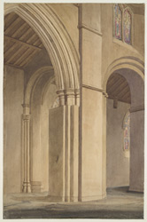 The Nave, St Alban's Abbey, 1846